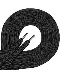 Di Ficchiano 1 Paar Qualitäts-Schnürsenkel Aus Polyester - reißfest - Flach - ca. 7,0 mm Breit, 27 Farben, 60-200 cm Länge
