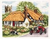 Anchor Stickbild, Motiv Village of Welford, Kreuzstich nach Zählmuster