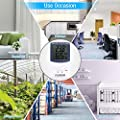COLEMETER Digitale Thermometer Hygrometer Feuchtigkeit Messgerät Temperaturmessgerät