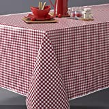 La Redoute Interieurs Garden Party Pvc Gingham Tablecloth Red Size 140X300cm