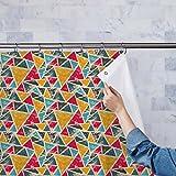 AZ Grunge Triangle Washable Waterproof Shower Curtain 54 x 72inch; SET OF 2 PCS