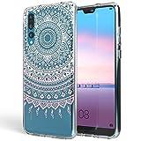 NALIA Handyhülle für Huawei P20 Pro, Slim Silikon Motiv Case Crystal Schutzhülle Dünn Durchsichtig, Etui Handy-Tasche Back-Cover Transparent Bumper für P20 Pro, Designs:Mandala Pink