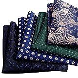 Küssen U Männer Gemischt Sortiert Muster Einstecktuch Jahrgang Blumen Taschentuch Set (4 Packungen)
