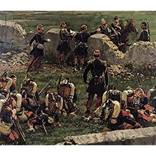 adrium Leinwand-Bild 70 x 60 cm:Fragment of The Panorama of The Battle of Rezonville (16th August 1870), 1883 (Oil on Canvas), Bild auf Leinwand