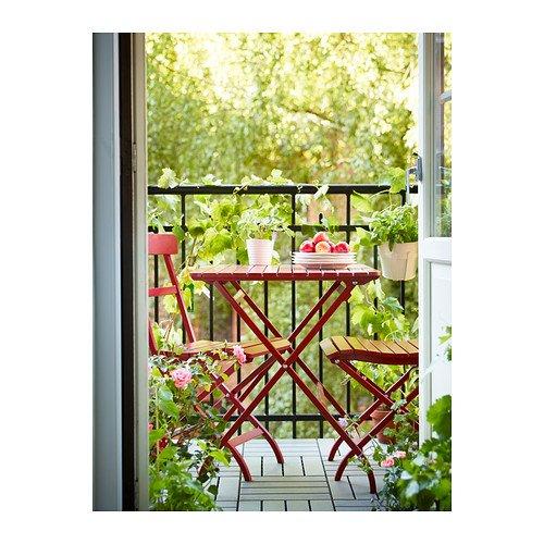 Empire Paintball Table de Balcon Solide en Bois d'acacia Massif pour l'extérieur 80 x 62 x 74 cm