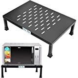 Plantex High Grade Gi Metal Universal Microwave Oven Fix Stand for Kitchen Platform - Floor (Black-Perforated)