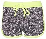 Noroze Mädchen Gymnastik Flecken Hot Pants Sportbekleidung Shorts Kurze Hose (7-8, Limette)