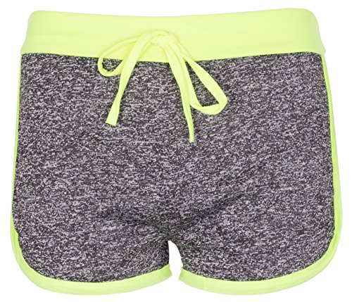 Noroze Mädchen Gymnastik Flecken Hot Pants Sportbekleidung Shorts Kurze Hose (9-10, Limette)