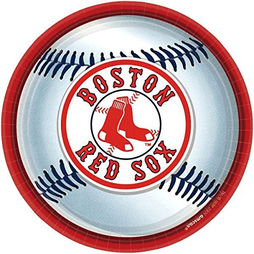 Amscan Boston Red Sox Round Dinner Plates, 9 by - Amis Boston