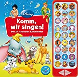 27-Button-Soundbuch - Disney Klassiker: Komm, wir singen! - Die 27 schönsten Kinderlieder - Hardcover-Buch mit Noten -