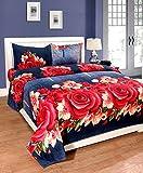 #8: BSB Trendz 3D Super 180 TC Polycotton Double Bedsheet with 2 Pillow Covers - Multicolour