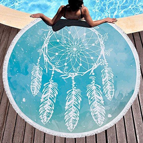 Atrapasueños Toalla de playa grande redondo microfibra toalla de playa playa manta Toalla Mantel de picnic pared colgantes Yoga Alfombras 150cm 2
