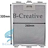 b-creative metal Grease Filter per AEG Baumatic cappa aspirante Vent fan 320 x 260 mm