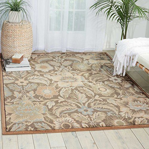 Nourison Teppich Mondrian 99446270115-Grau maschinell gewebt Teppich, grau, 3ft 9Zoll x 5ft 9Zoll - Nourison Nourison Teppich Grau