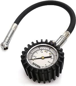 Tiretek Reifendruckmesser Reifendruckprüfer Für Auto Und Motorrad I Ansi Zertifizierter Luftdruckprüfer Mit 360 Drehkopf Luftdruckmesser 0 60 Psi I 4 Bar Lang Auto