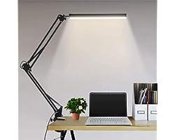 Lampe de Bureau LED 10W Lampe Bureau Table Architecte USB 3 Température de Couleur 10 Luminosité, Fonction Mémoire, Protectio