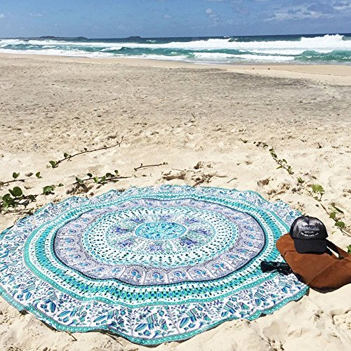 Tsumbay Strandtuch Tapestry Yogatuch Tischtuch Bohemian Style Dünn Chiffon Mandala