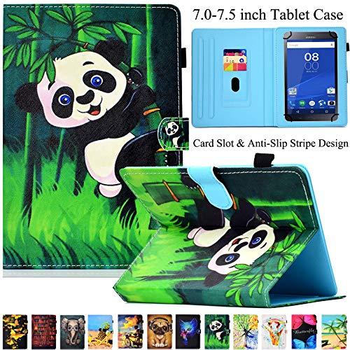 Universal Tablet-Schutzhülle, Artyond PU Leder Multi-Winkel Ständer Hülle mit Kartenschlitzen für Android, Windows, Kindle, Galaxy Tab und andere 17,8-7,5 Zoll Tablet, Bambus - 7-zoll-kindle Ständer Für