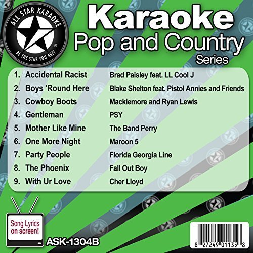 All Star Karaoke Pop and Country Series (ASK-1304B) by All Star Karaoke Paisley Boys Band