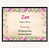 Zan Name Meaning Mouse Mat Pad Floral