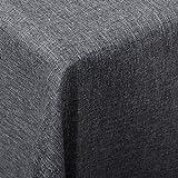 WOLTU TD3043gr Tischdecke Tischtuch Leinendecke Leinen Optik Lotuseffekt Fleckschutz Pflegeleicht abwaschbar schmutzabweisend Farbe & Größe Wählbar Eckig 130x220 cm Grau - 3