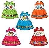 #8: Eazy Trendz New Born Babies Beatiful Colorful Designer Frock Set Pack of 5