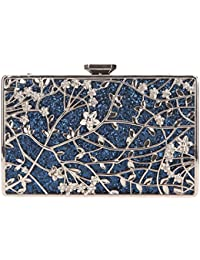 Bonjnavye Studded Rhinestone Floral Purse Party Clutch Handbags for Girls