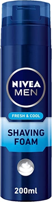 NIVEA, MEN, Shaving Foam, Fresh & Cool, 200ml