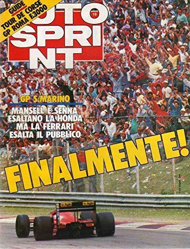 Autosprint 19 del 5-11 maggio 1987 Giampaolo Dallara Gp S. Marino Mansell Senna