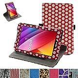 Asus ZenPad Z170C rotante Custodia,Mama Mouth rotante a 360° custodia in PU di cuoio pelle caso Case per 7' Asus ZenPad C 7.0 Z170C Z170CG Z170MG Android Tablet,Rosso