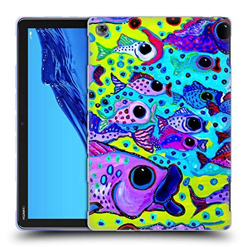 Head Case Designs Offizielle Mad Dog Art Gallery Fisch-Test Meer Soft Gel Hülle für Huawei MediaPad M5 Lite