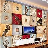 Aolomp Wallpaper Grande Murales 3D Bar Ktv Fotografia Sullo Sfondo Della Carta Da Parati Personalizzata Carta Da Parati Senza Giunture Musica Retrò