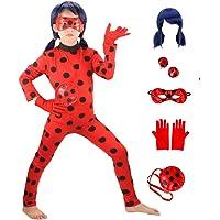 GREAHWD Perruque Déguisement Fille Coccinelle Combinaison Masque Sac Bodysuit Perruque Cosplay Costume de Carnaval 3-10…