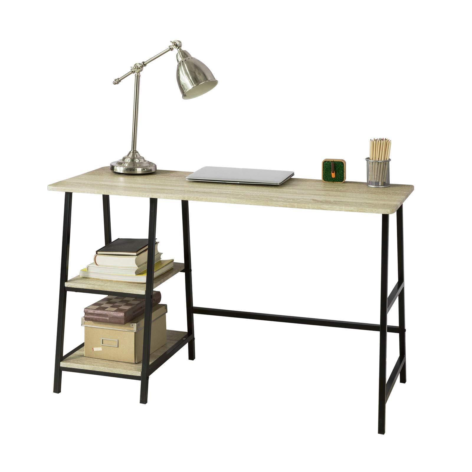 Sobuy fwt54 n bureau informatique table secr taire plan - Bureau avec plan de travail ...