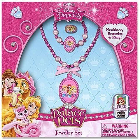 Disney Princess Jewelry Box Set with Beaded Necklace, Beaded Bracelet & Ring by Disney Princess