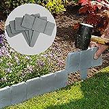 5m grigio effetto pietra per bordi per prato | Garden Plant aiuola Border | M & W
