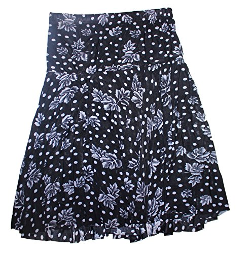 Qraftink women printed short skirt with with frills and divider shorts party wear casual dress mini skirt for girls and women  available at amazon for Rs.315