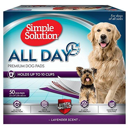 Simple Solution  6 x lagige Premium Hunde Pads mit Lavendel Duft - 50 pack -