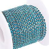 BENECREAT 10 Yard Kristall Strass Schließen Kette Klar Trimmen Klaue Kette Nähen Handwerk über 2880 Stück Strasssteine