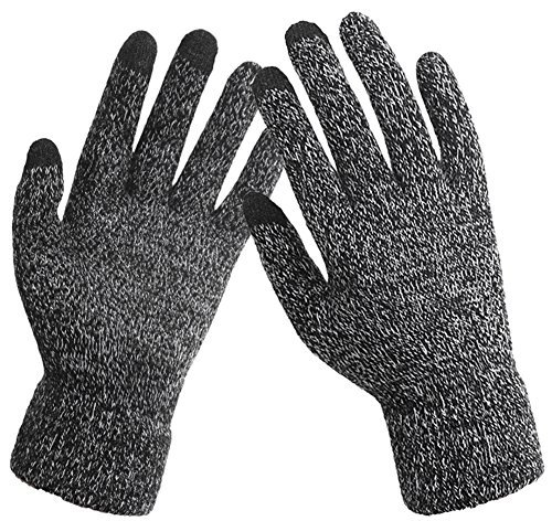 iHomey Touch Screen Knitted Non-slip Gloves Unisex Soft Woolen Winter Gloves Mittens