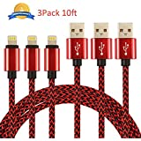 USB-Kabel, nexgadget 3-meter USB Kabel USB Ladekabel 3M3P Red