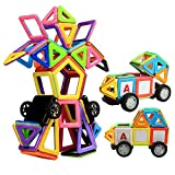 Innoo Tech Magnetic Building Blocks, Magnet Building Tiles Kits, 76+1 Pieces, ABS Plastic, Instruction Booklet Included, Construction Stacking Toys, Creative and Educational Gift for Kids