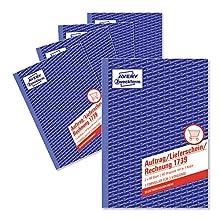 Avery Dennison Zweckform 1739-5 A5 Commande/de livraison/facture papier pour pack de 5