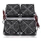 240W 4-Chip Halbleiter Kälte Thermoelektrische Kühler Peltier Kühlplatte mit 4 Ventilatoren