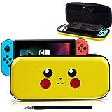 Haobuy Custodia per Switch, [Design per Let's Go Pikachu/Eevee Pouch] [Protezione Completa] Custodia per Pokemon Switch, Bors