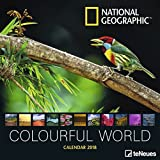 2018 National Geographic Colourful World Calendar - teNeues Grid Calendar - Photography Calendar - 30 x 30 cm
