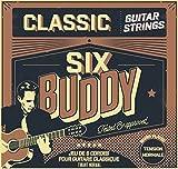 SIX Buddy HQ-TNC Juego de 6cuerdas para guitarra clásica tensión Normal (normal)