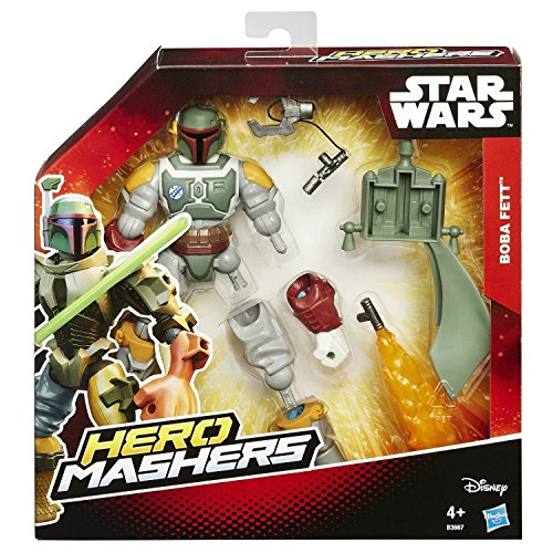 7 Fett Star Boba Wars (Star Wars Deluxe Boba Fett Held Mashers The Force Erwachen 15.2cm)