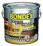 BONDEX Express Holzlasur Plus, Farbton Nussbaum 731 / 5 Liter / Holzschutzlasur für Hölzer im Innen- u. Aussenbereich