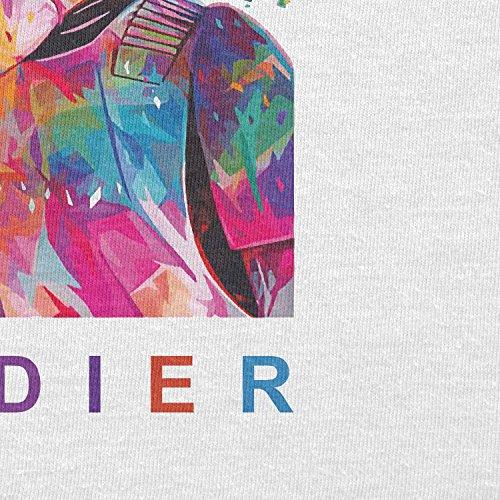 TEXLAB - Soldier - Herren Langarm T-Shirt Weiß